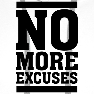 No More Excuses Tee shirts - Sweat-shirt à capuche Premium pour hommes