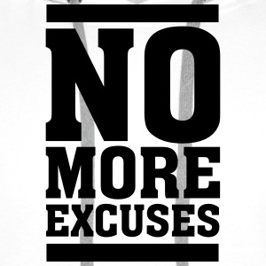 No More Excuses T-shirts - Mannen Premium hoodie