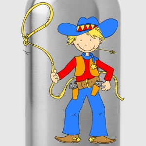 Cowboy with Lasso Bags & Backpacks - Water Bottle