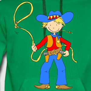 Cowboy with Lasso Shirts - Men's Premium Hoodie