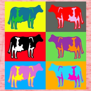 6 coloured cows multicolour Shirts - Women's Tank Top by Bella
