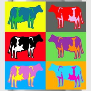 cow ko cows coloured  multicolour T-shirts - Vattenflaska