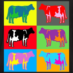 cow ko cows coloured  multicolour T-shirts - Långärmad premium-T-shirt herr