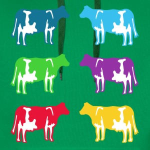 cow cows coloured  Shirts - Men's Premium Hoodie