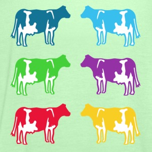 cow cows coloured  Shirts - Women's Tank Top by Bella