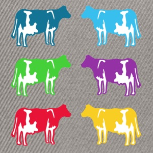 cow cows coloured  Shirts - Snapback Cap