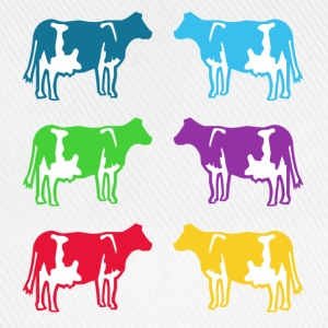cow ko cows coloured  T-Shirts - Basebollkeps