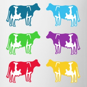 cow ko cows coloured  T-Shirts - Mugg