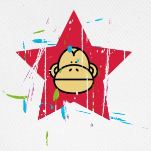 Monkey Red Star - Monkey Revolution T-shirts - Baseballkasket