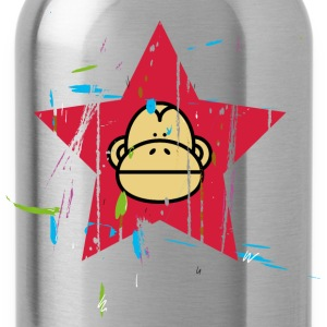 Monkey Red Star - Monkey Revolution T-shirts - Drikkeflaske