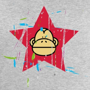 Monkey Red Star - Monkey Revolution Long Sleeve Shirts - Men's Sweatshirt by Stanley & Stella