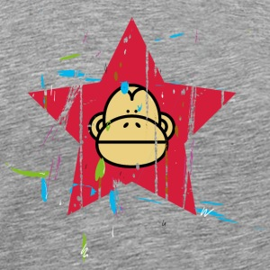 Monkey Red Star - Monkey Revolution Skjorter med lange armer - Premium T-skjorte for menn