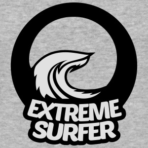 Extreme surfer, Welle, Surfing, Strand Pullover & Hoodies - Männer Slim Fit T-Shirt