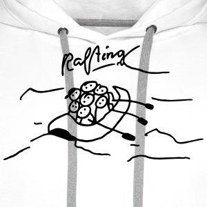 Rafting in inflatable boat T-Shirts - Men's Premium Hoodie