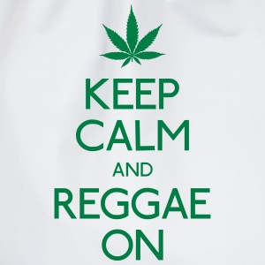 Keep Calm and reggae on houden van rust en reggae op T-shirts - Gymtas