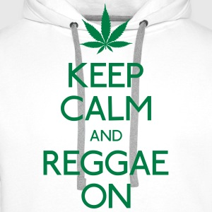 Keep Calm and reggae on T-Shirts - Men's Premium Hoodie