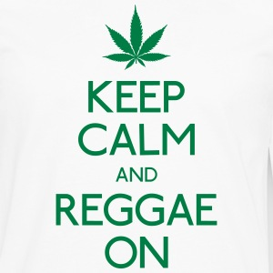 Keep Calm and reggae on T-Shirts - Men's Premium Longsleeve Shirt