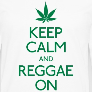 Keep Calm and reggae on garder calme et reggae Tee shirts - T-shirt manches longues Premium Homme