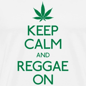 Keep Calm and reggae on houden van rust en reggae op Sweaters - Mannen Premium T-shirt
