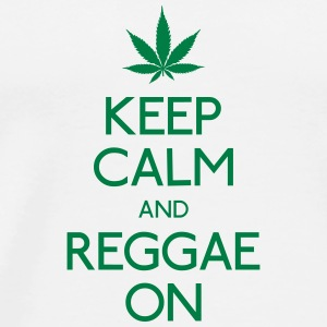Keep Calm and reggae on mantener la calma y el reggae en Bolsas y mochilas - Camiseta premium hombre