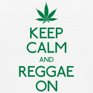 Keep Calm and reggae on hålla lugn och reggae på Flaskor & muggar - Premium-T-shirt herr