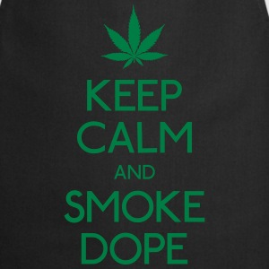 keep calm and smoke  mantener la calma y fuma marihuana Sudaderas - Delantal de cocina