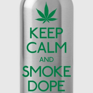 keep calm and smoke  mantenere la calma e fumo droga Felpe - Borraccia