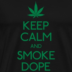 keep calm and smoke  garder calme et fumée  Sweat-shirts - T-shirt Premium Homme