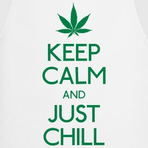 Keep Calm and just chill mantener la calma y relajarse Camisetas - Delantal de cocina