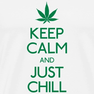 Keep Calm and just chill Hoodies & Sweatshirts - Men's Premium T-Shirt