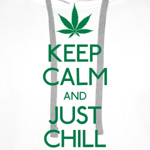 Keep Calm and just chill Shirts - Men's Premium Hoodie