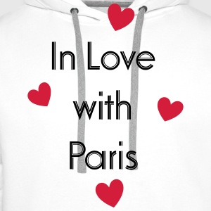 In Love With Paris T-shirts - Mannen Premium hoodie