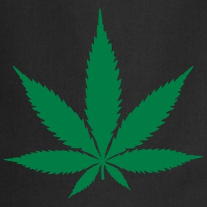 hemp leaf wietblad T-shirts - Keukenschort
