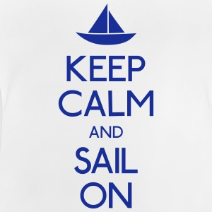 keep calm and sail on  holde ro og seile på  Skjorter - Baby-T-skjorte