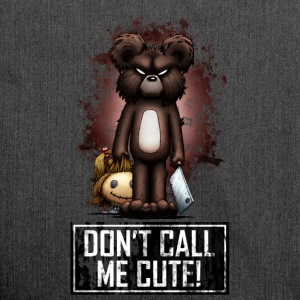 Teddy - Don't Call Me Cute (Color) Hoodies & Sweatshirts - Shoulder Bag made from recycled material