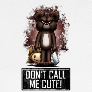 Teddy - Don't Call Me Cute (Color) Gensere - Baseballcap