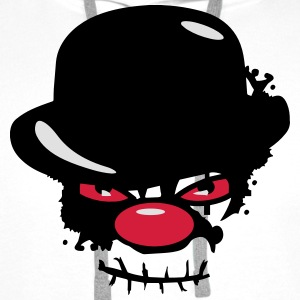 A scary clown with a bowler hat Shirts - Men's Premium Hoodie