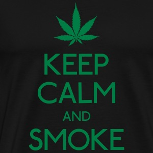 keep calm and smoke Hoodies & Sweatshirts - Men's Premium T-Shirt