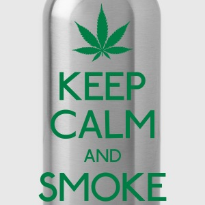 keep calm and smoke T-Shirts - Water Bottle