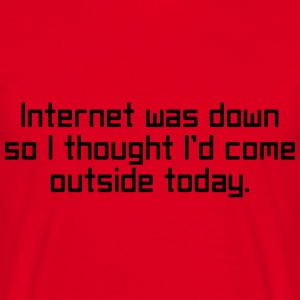 Internet Was Down Sweatshirts - Herre-T-shirt