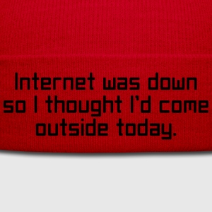 Internet Was Down T-shirts - Vintermössa