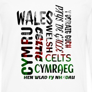 Wales , Welsh and proud nation - Men's Premium Longsleeve Shirt