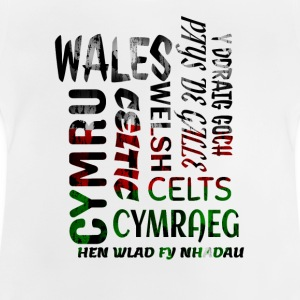 Wales , Welsh and proud nation - Baby T-Shirt