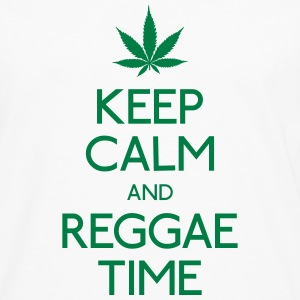 Keep Calm and Reggae holde ro og reggae Skjorter - Premium langermet T-skjorte for menn