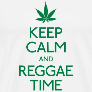 Keep Calm and Reggae holde ro og reggae Gensere - Premium T-skjorte for menn