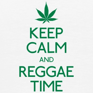 Keep Calm and Reggae houden van rust en reggae Flessen & bekers - Mannen Premium T-shirt