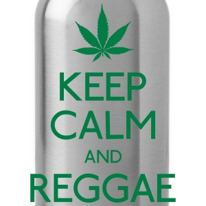 keep calm and Reggae houd rust en reggae T-shirts - Drinkfles