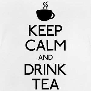keep calm drink tea houden kalm drinken thee Shirts - Baby T-shirt