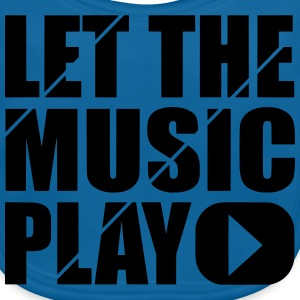 let the music play T-shirts - Ekologisk babyhaklapp