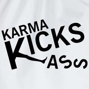 Karma kicks ass T-shirts - Sportstaske